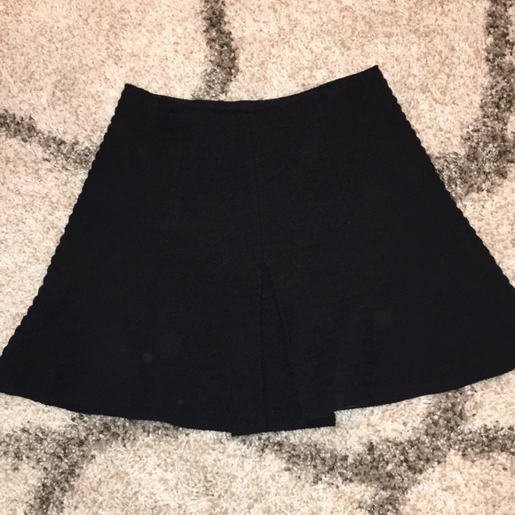 bdcfff6326 Theory Skirts | Braswell Black Ribbed Aline Mini Skirt Nwt | Poshmark
